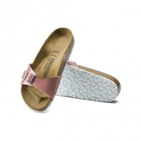 Ciabatta Birkenstock Madrid Bs Donna Patent Old Rose Rosa