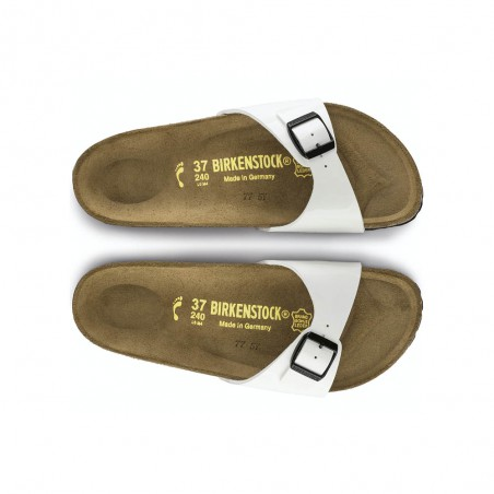 Ciabatta Birkenstock Madrid Bs Donna White bianco