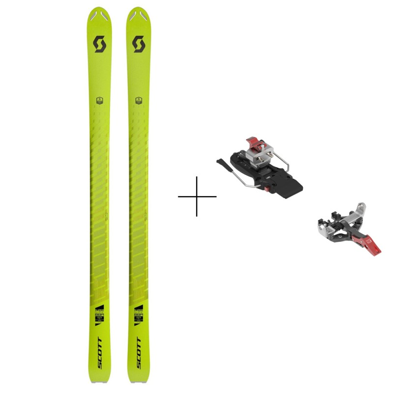 Completo Sci Alpinismo Usato Scott Super Guide 88r + Atk Crest 10 2021 Adulto Lime